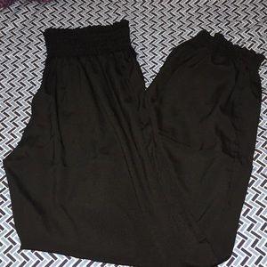 Black Silky Fashion Harem Pants